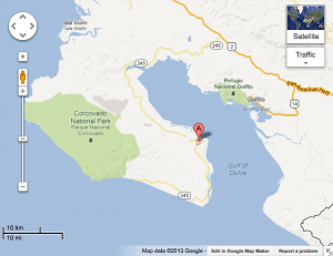 Costa Rica Sport Fishing - Location of Alpha Mike Sportfishing in Costa Rica