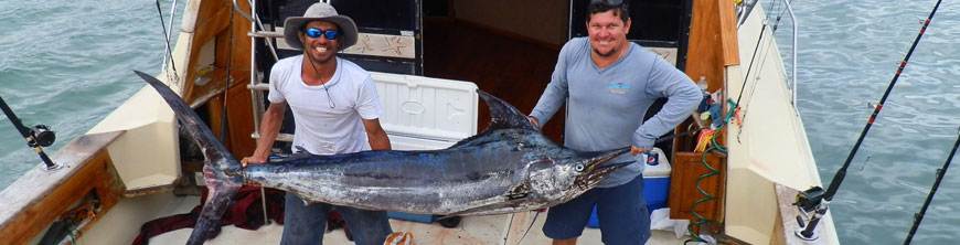 Johnathan and Nelson with a big Marlin